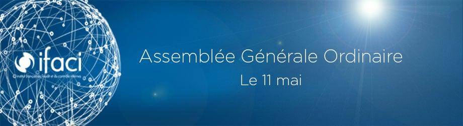L'Assemblée Générale Ordinaire de l'IFACI aura lieu le 11 mai 2017
