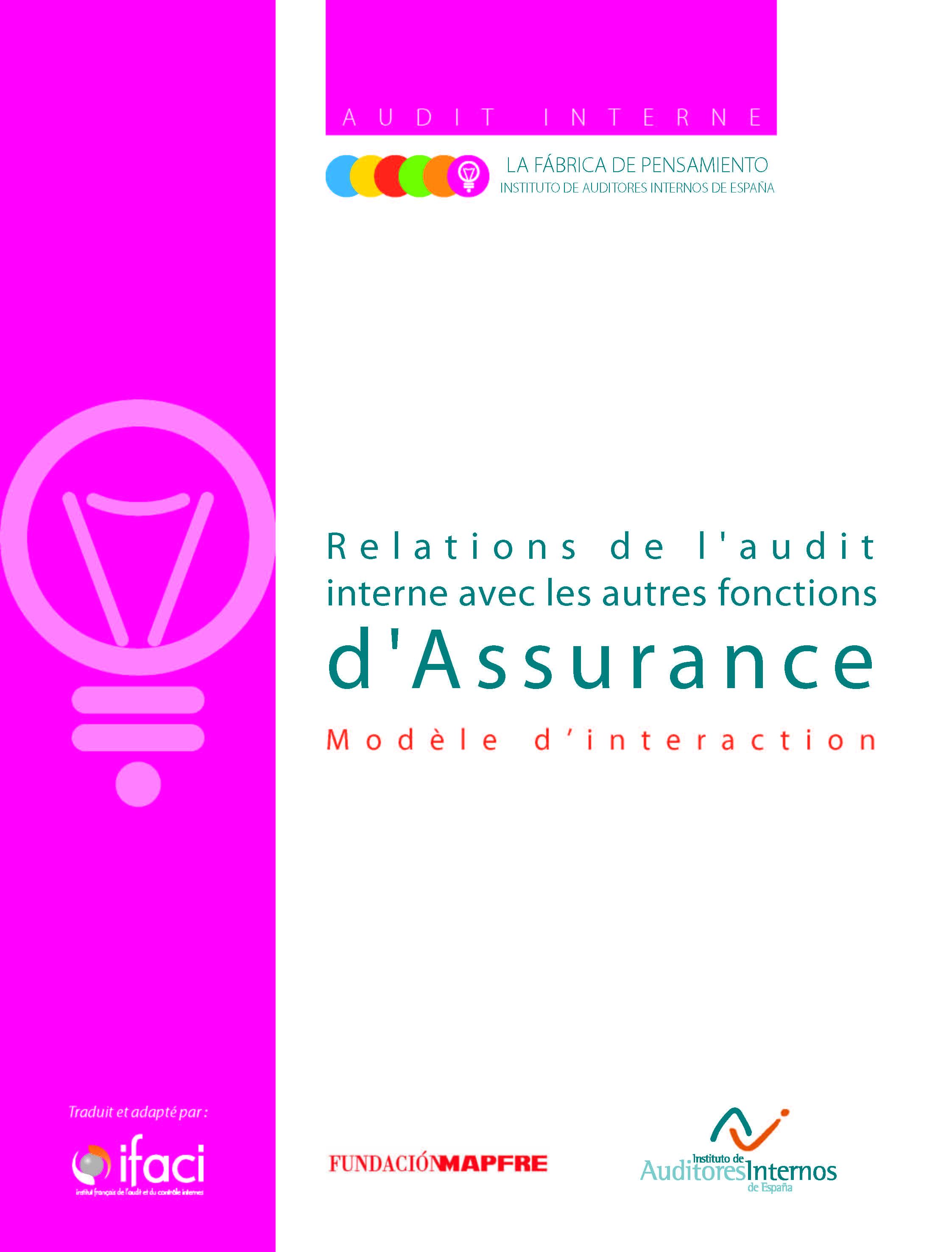 Relations de l'audit interne avec les autres fonctions d'assurance