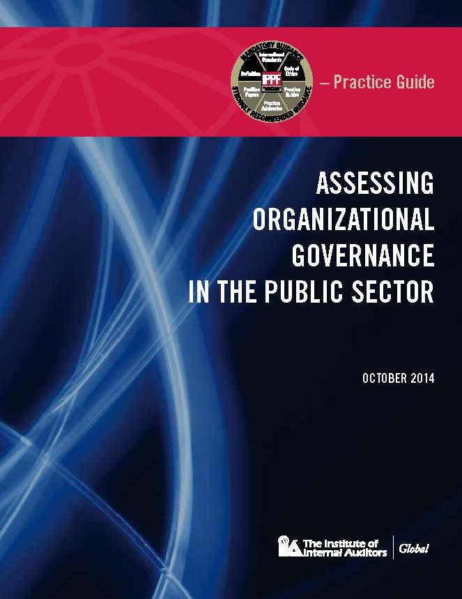 Assessing organizational governance in the public sector : Nouveau guide pratique