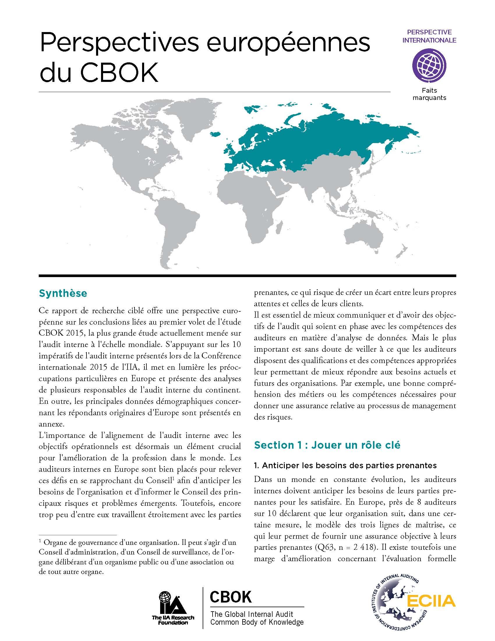 Perspectives européennes du CBOK