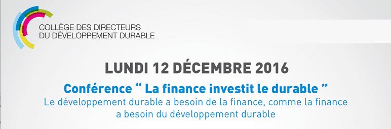 Conférence «La finance investit le durable»