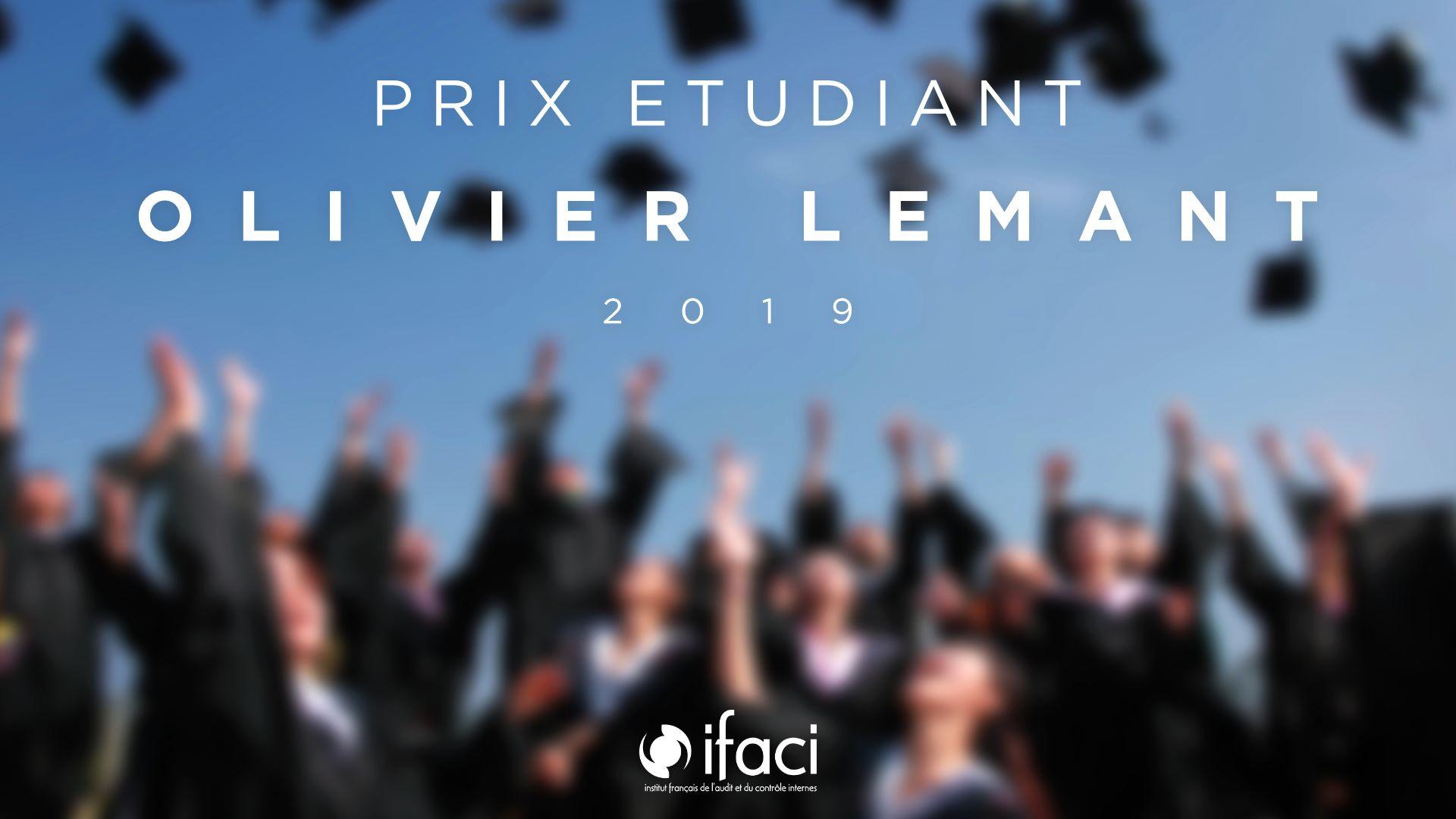 Prix Olivier Lemant 2019 : les candidatures sont ouvertes !