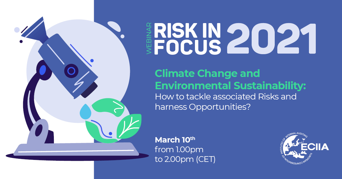 Climate change and environmental sustainability: how to tackle associated risks and harness opportunities?