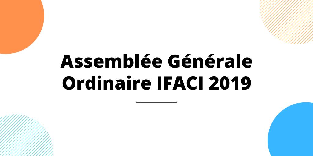 Résultats de l'Assemblée Générale Ordinaire 2019 de l'IFACI