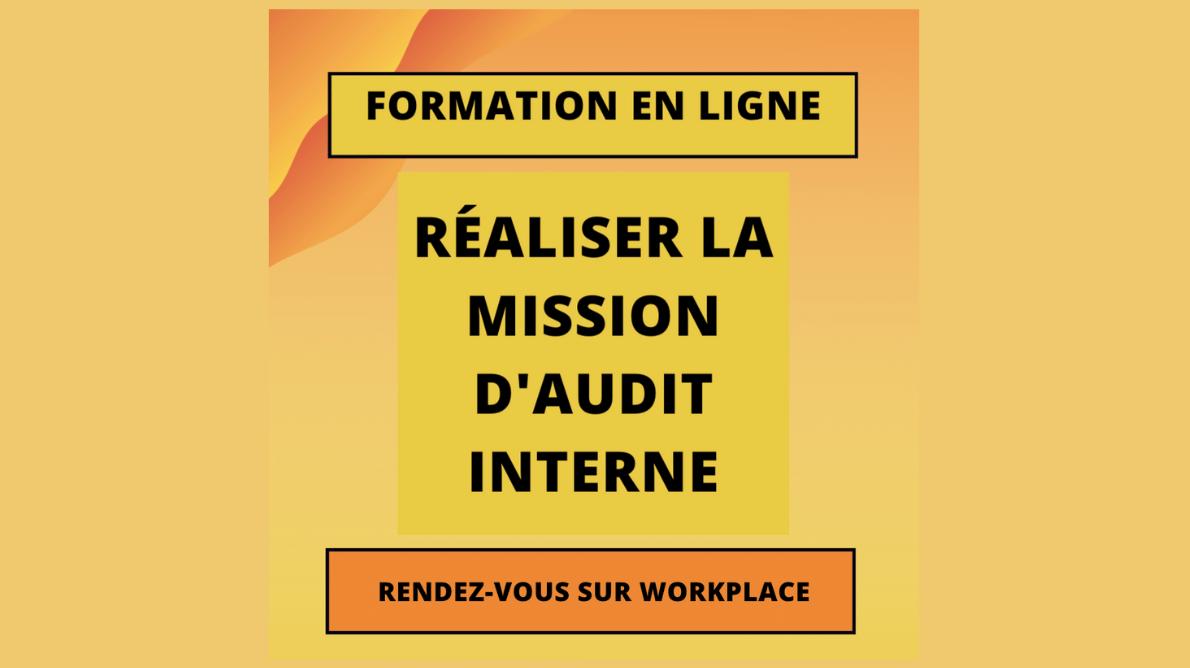 Formation en ligne – Réaliser une mission d'audit interne