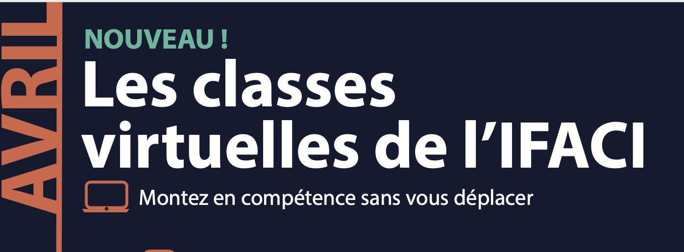 Découvrez le programme des Classes Virtuelle d'Avril !