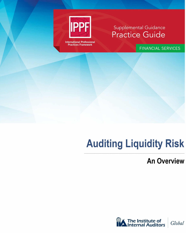 Nouveau Guide pratique : Auditer le risque de liquidité