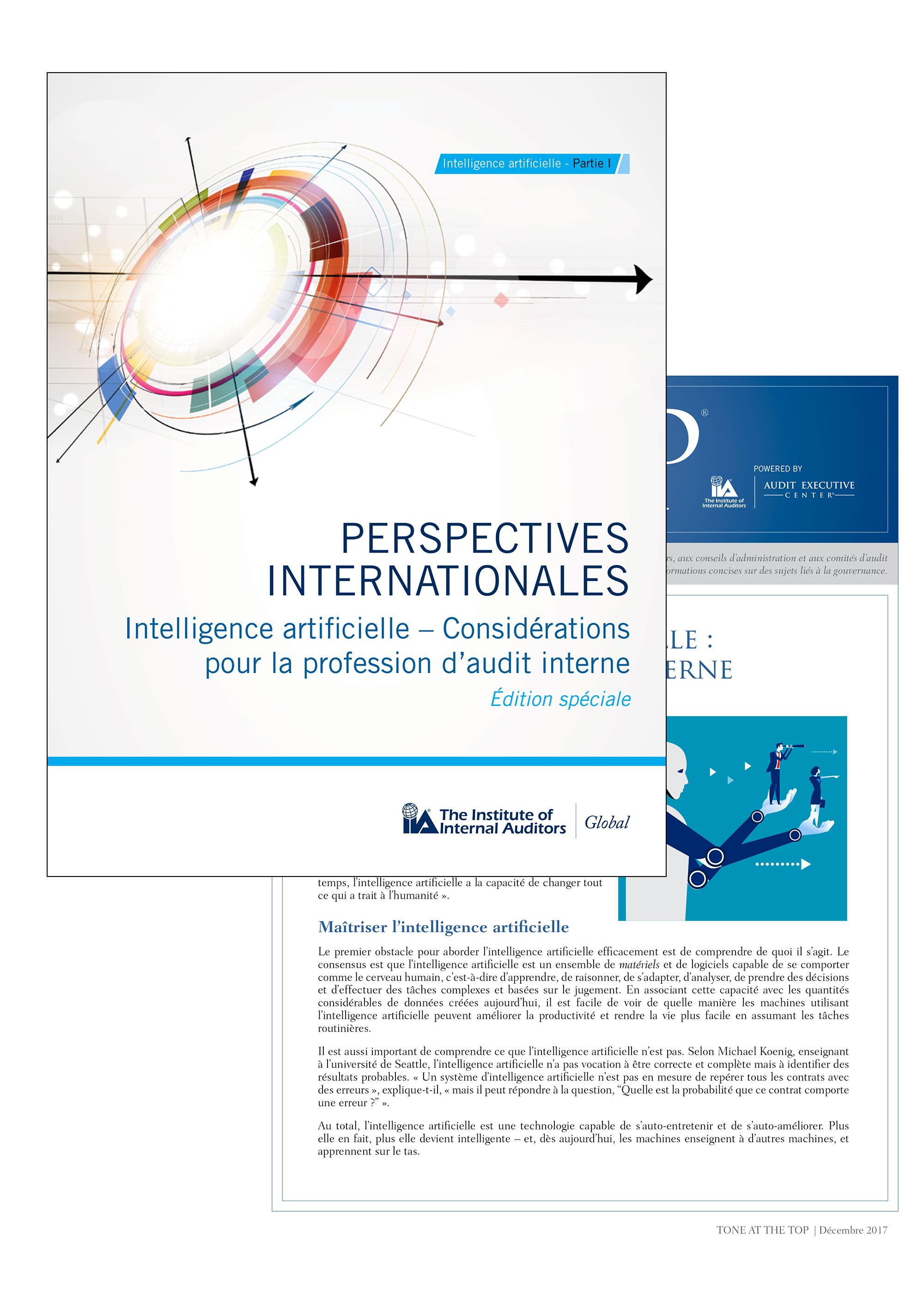 Intelligence artificielle : quelles considérations pour l'audit interne ?