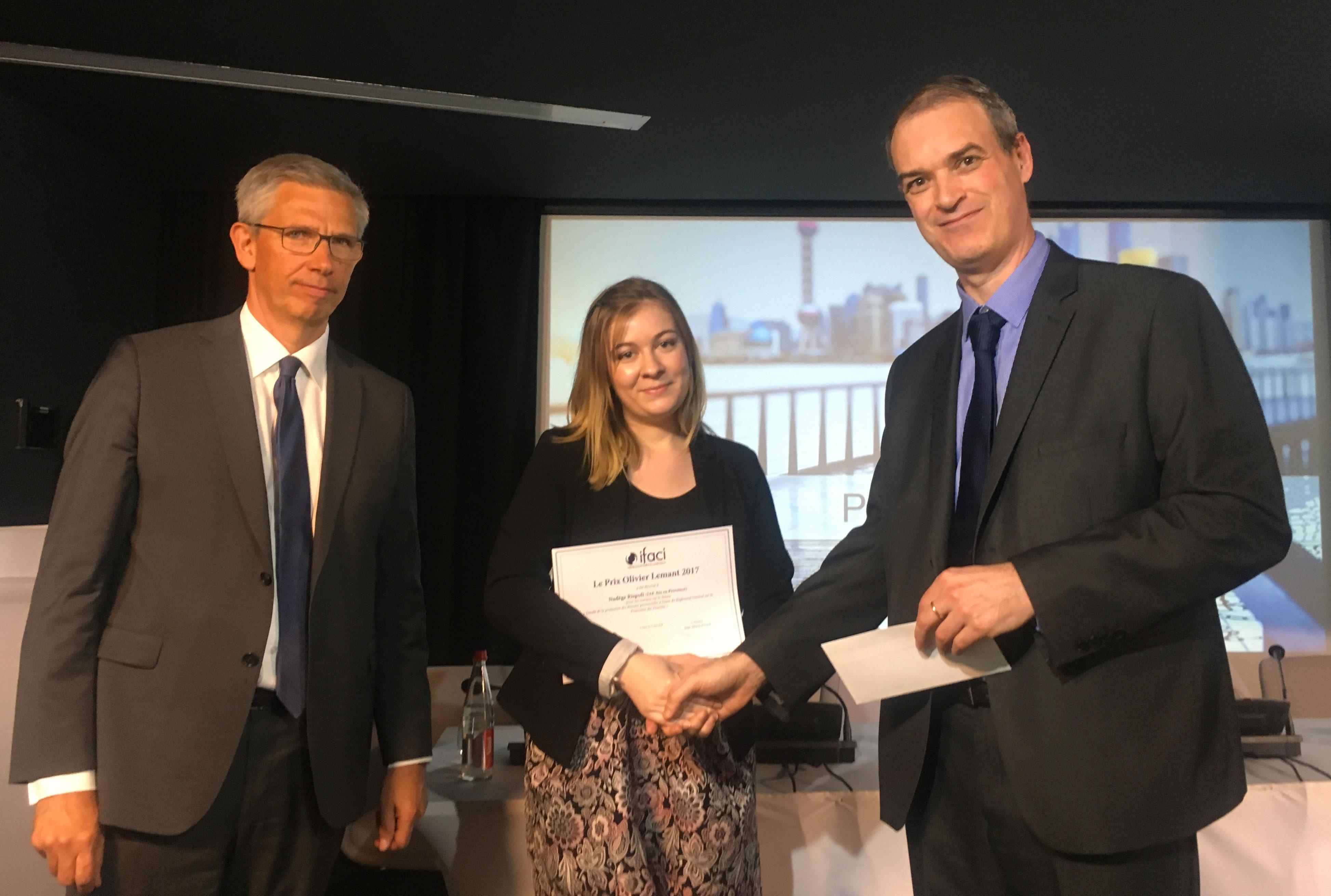 Remise du Prix Olivier Lemant 2017